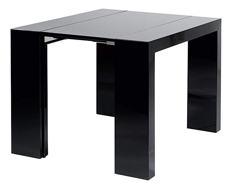 Table manger table console woodini xl capuccino pictures for Console transformable en table salle a manger