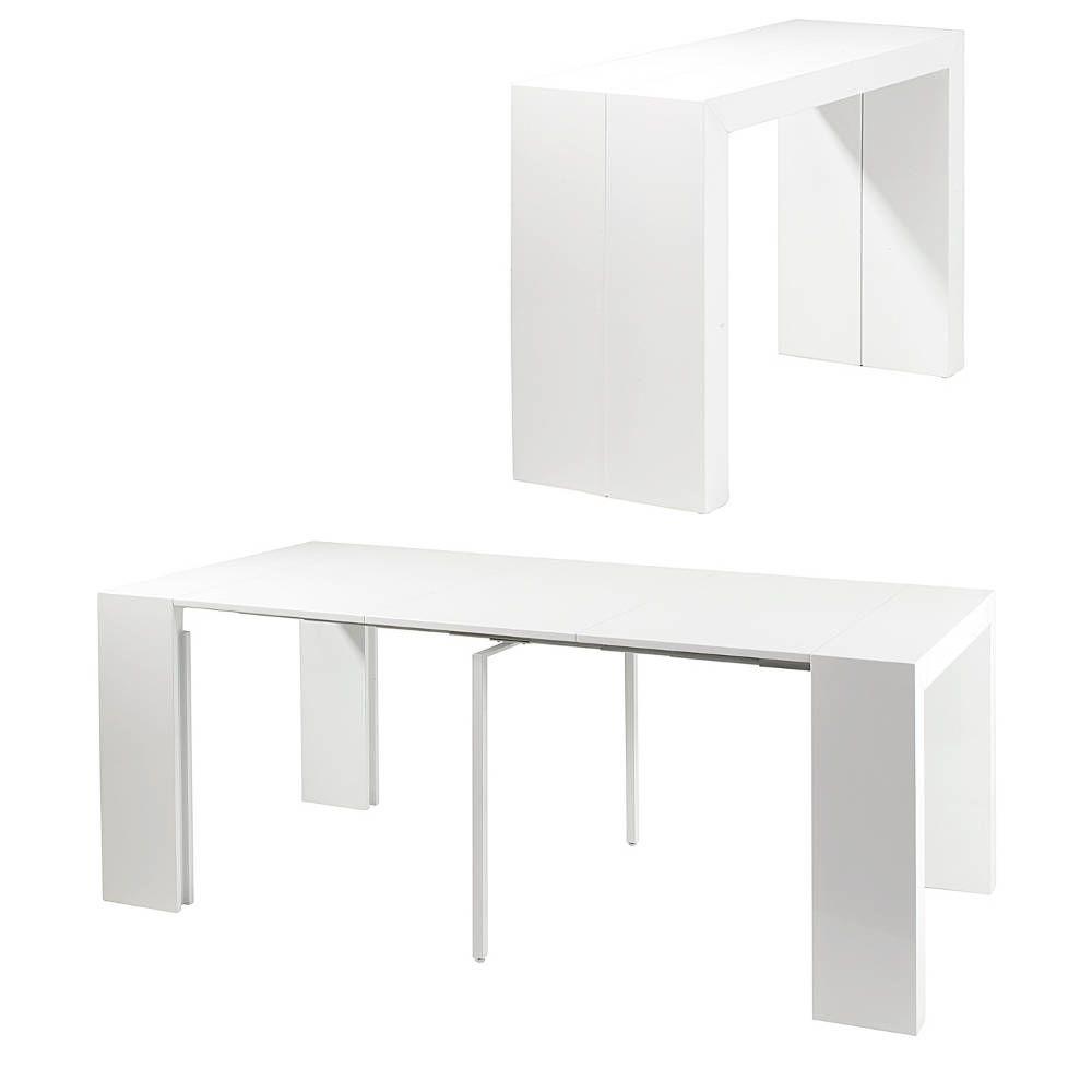 Console table salle à manger oriane (blanc)