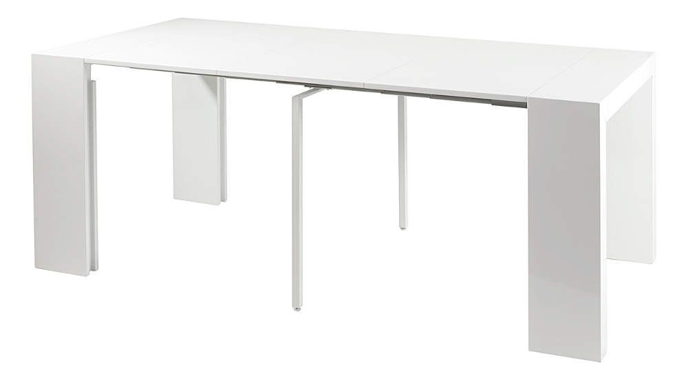 console table salle manger oriane blanc. Black Bedroom Furniture Sets. Home Design Ideas