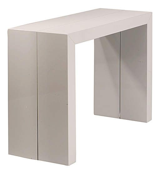 Console table salle manger oriane gris for Table salle a manger pliante