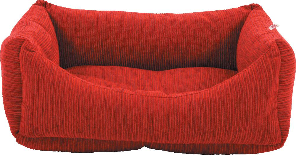 Corbeille � chien velours rouge-1