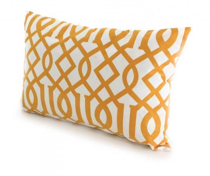 coussin stockholm 55x35cm jaune. Black Bedroom Furniture Sets. Home Design Ideas