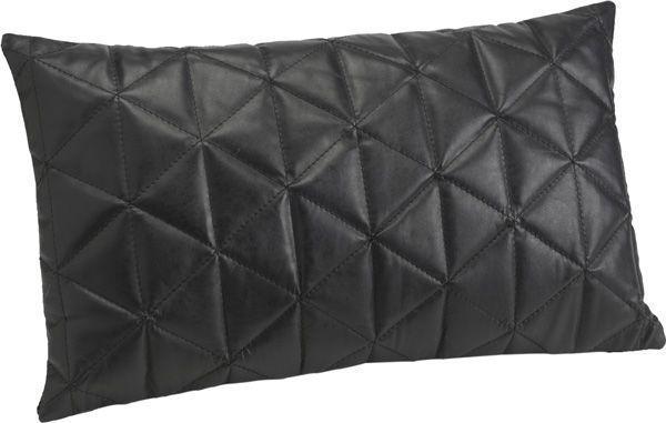 coussin en cuir noir doudoune. Black Bedroom Furniture Sets. Home Design Ideas