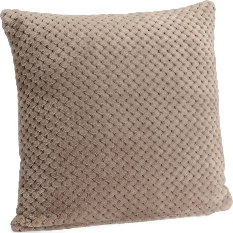 image_Coussin à damier taupe