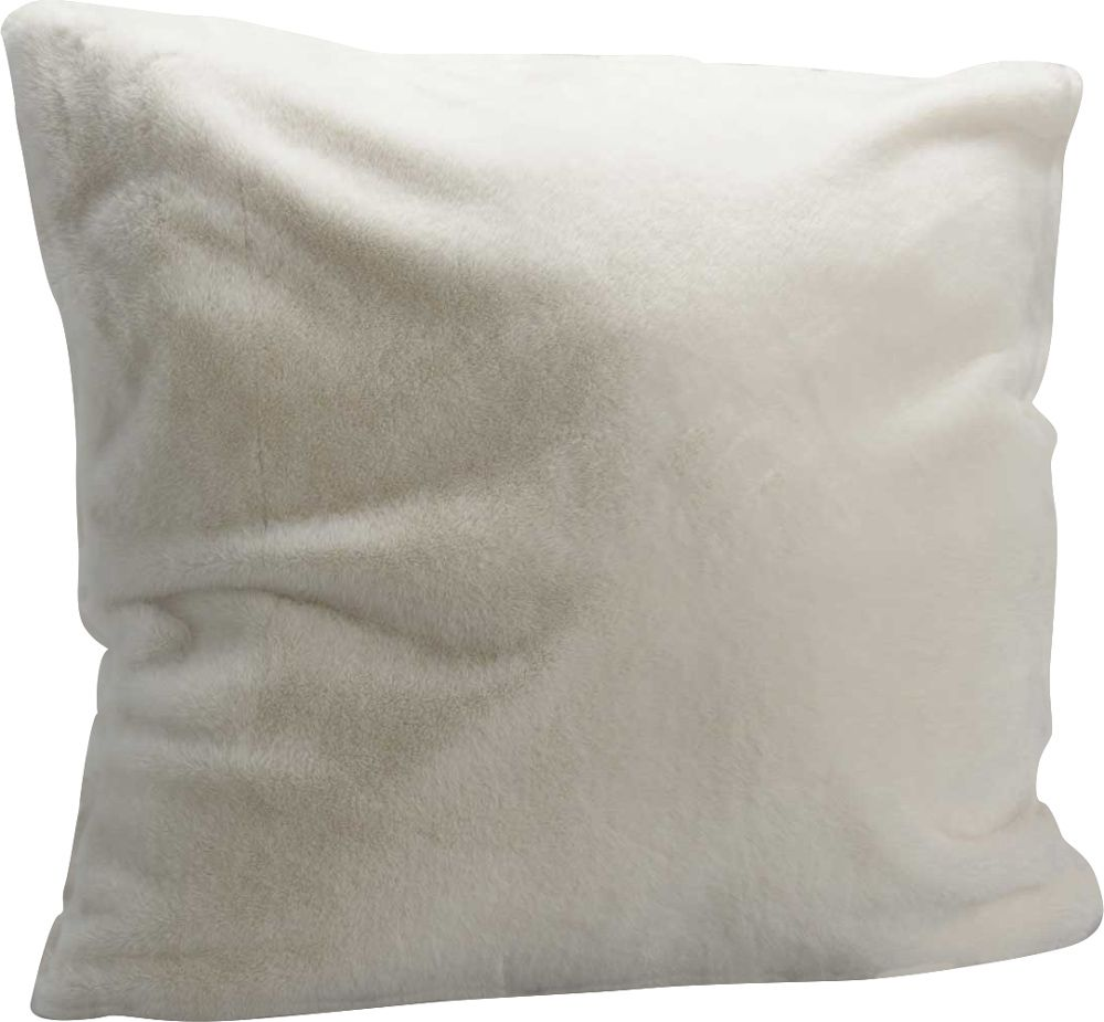 image_Coussin fourrure blanche