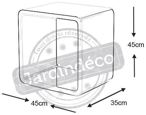 Cube de rangement verso noir - Un cube dans mon jardin prix ...