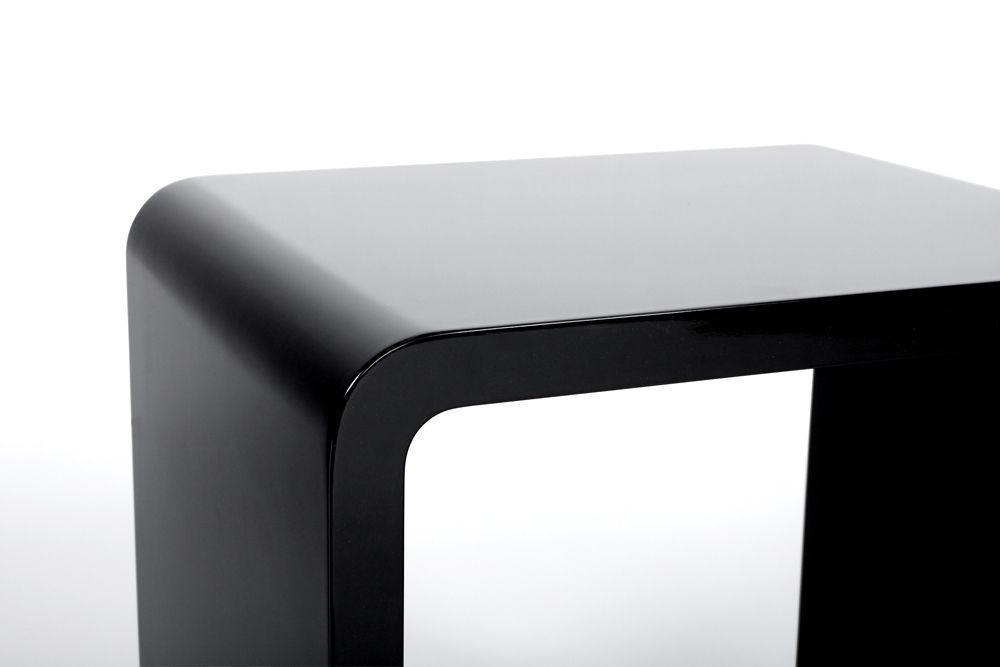 cube de rangement verso noir. Black Bedroom Furniture Sets. Home Design Ideas