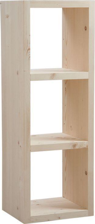 Cubes de rangement en bois brut - Petit meuble bois brut ...