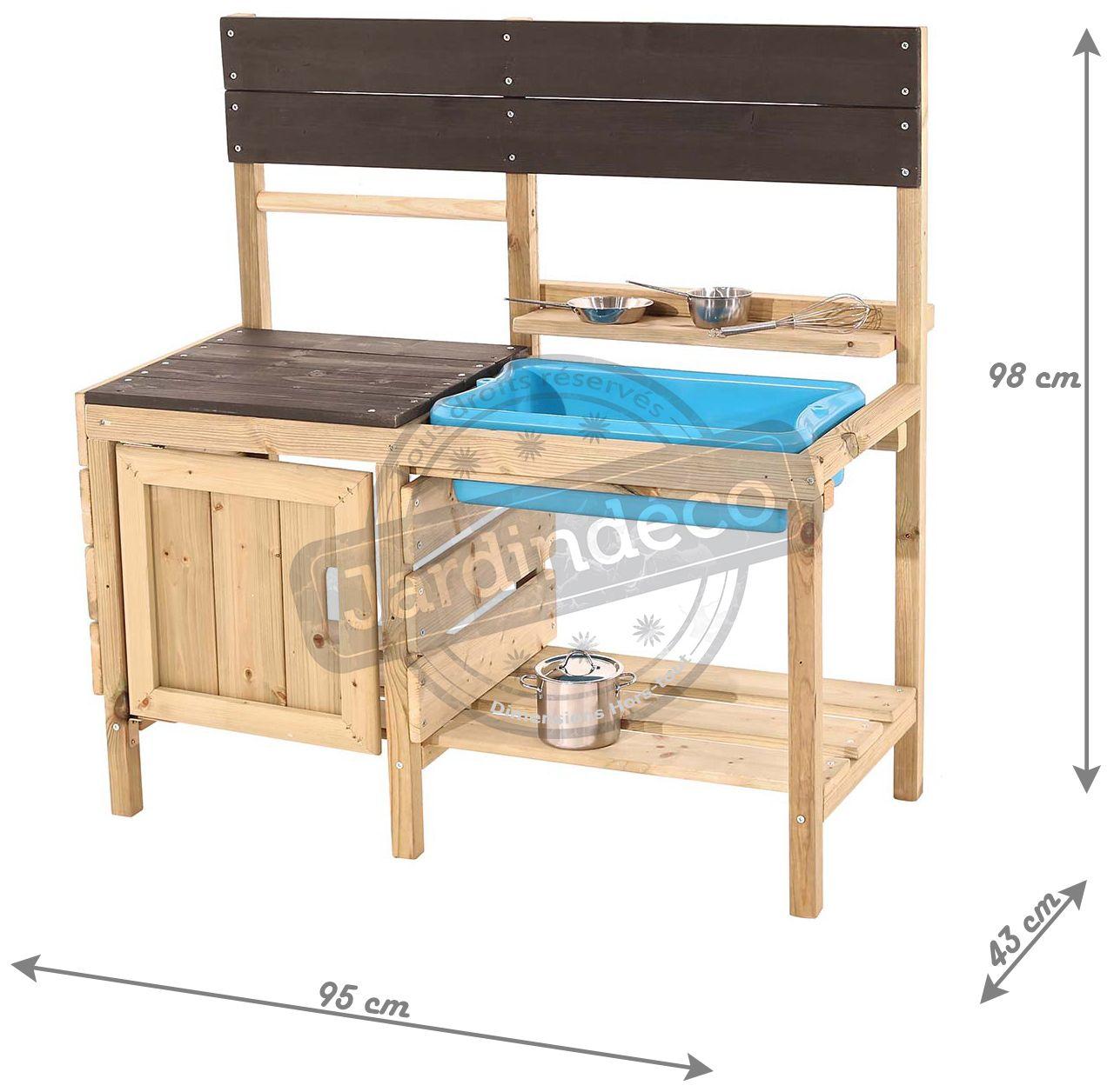 cuisine d 39 t en bois pour enfants muddy maker. Black Bedroom Furniture Sets. Home Design Ideas