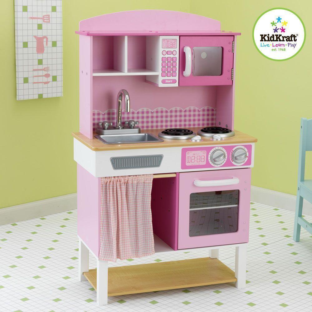 Cuisine pour enfant rose for Cuisine en bois pour enfant ikea