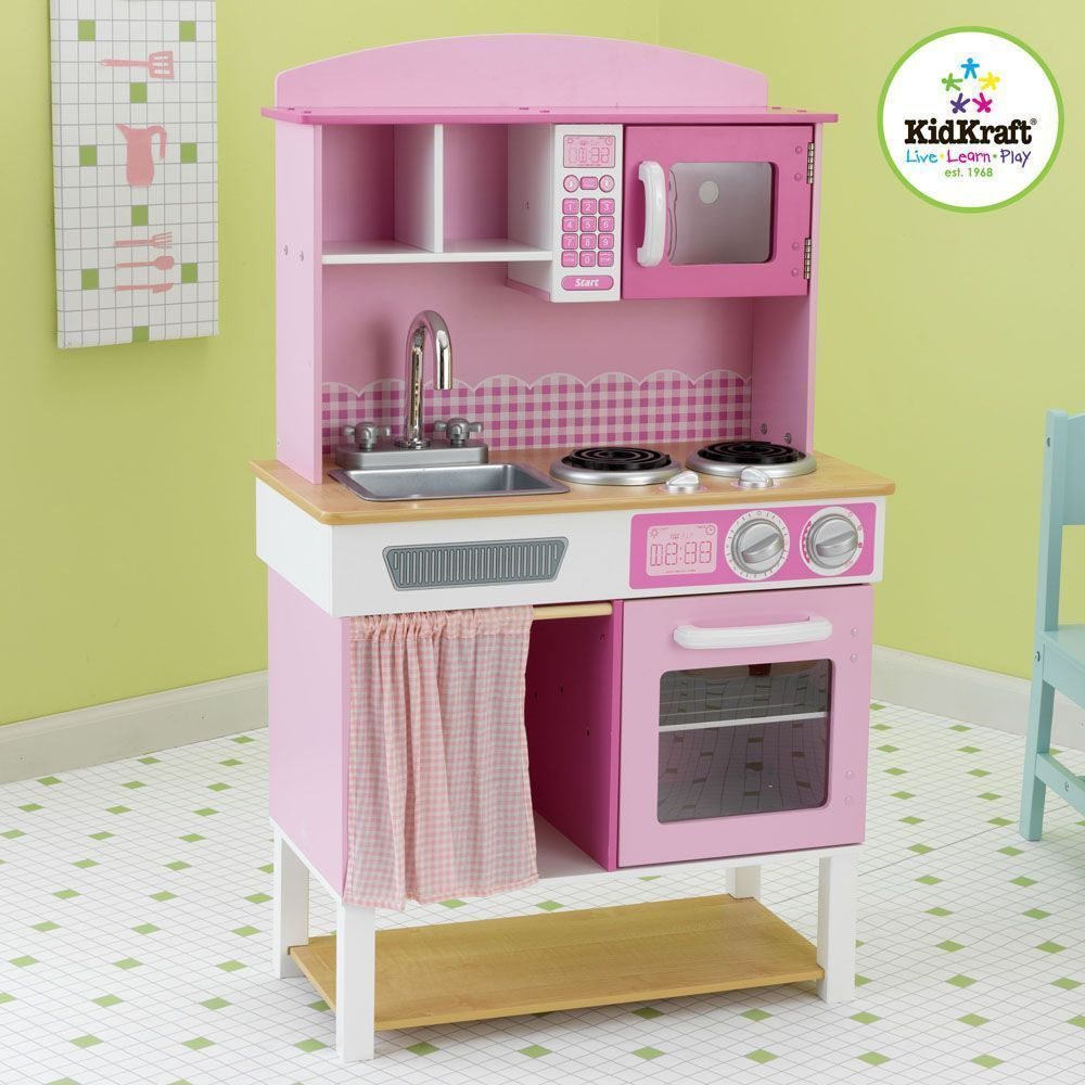 Cuisine pour enfant rose for Cuisine kidkraft rose