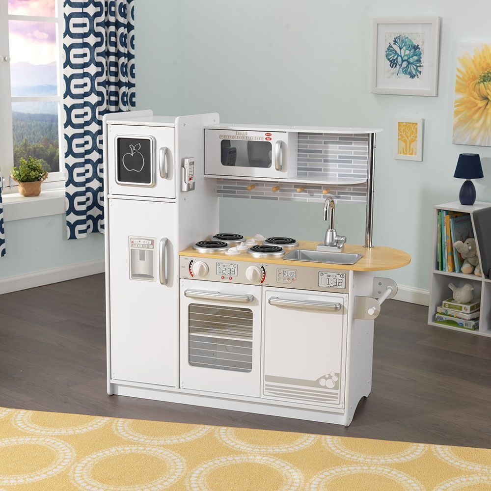 Realistic Play Kitchen Ultimate Corner With Lights And: Cuisine Pour Enfant Uptown