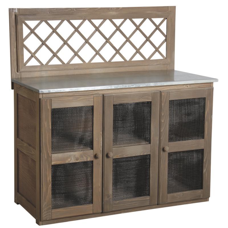 cuisine d 39 t pour plancha en bois et zinc. Black Bedroom Furniture Sets. Home Design Ideas