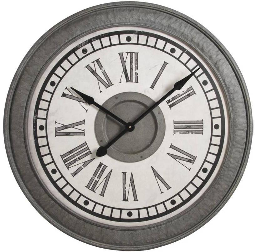 Horloge en m�tal murale 91x6cm