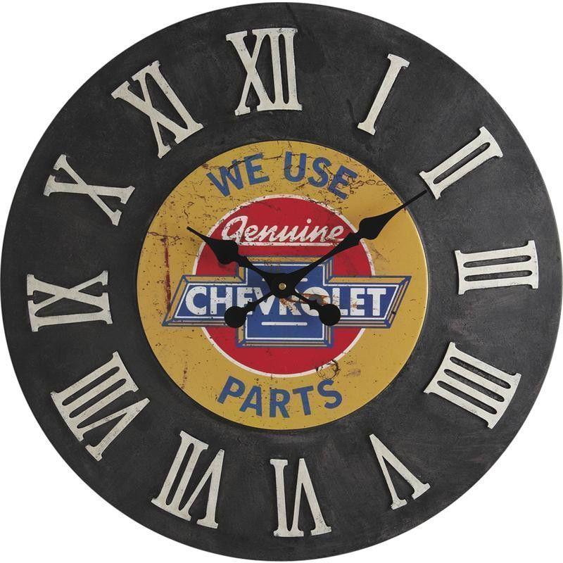 Horloge murale chevrolet en m�tal 60cm