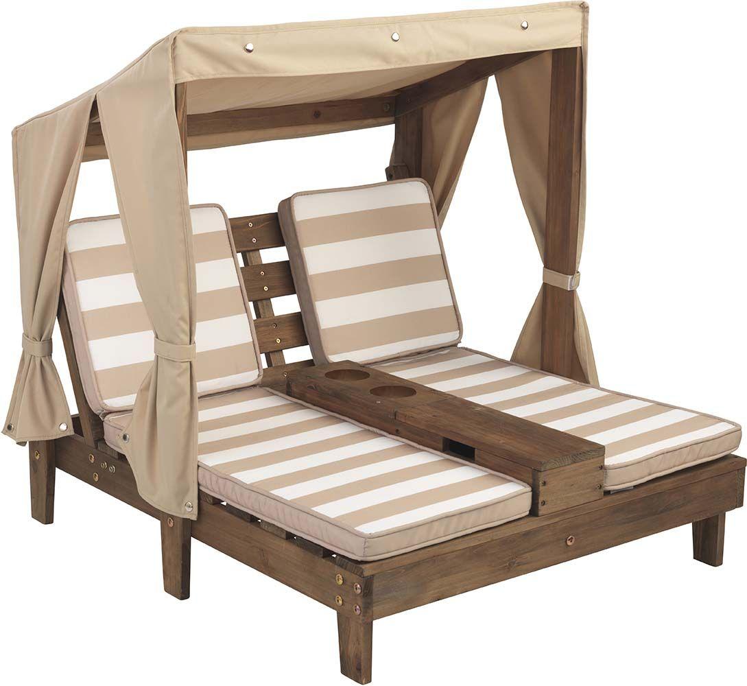 double chaise longue avec porte gobelets. Black Bedroom Furniture Sets. Home Design Ideas