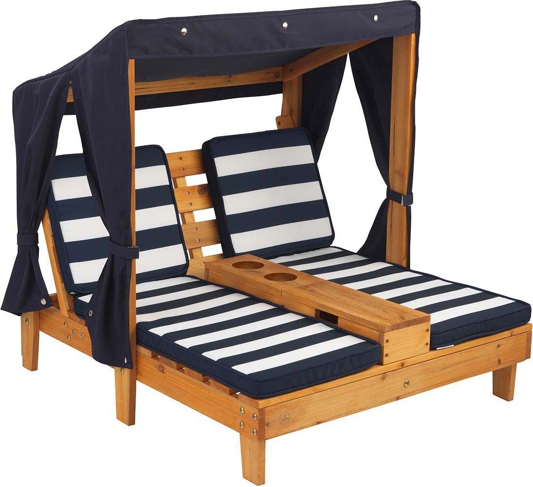 double chaise longue enfant avec porte gobelets coloris 1. Black Bedroom Furniture Sets. Home Design Ideas