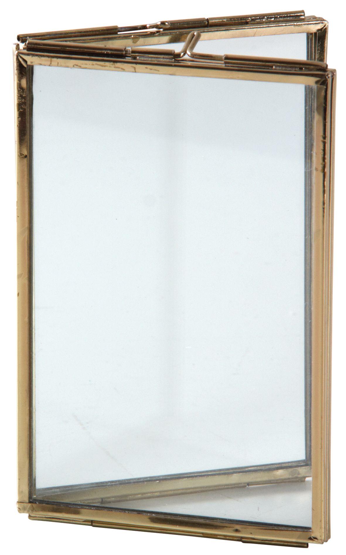 double cadre photo en laiton. Black Bedroom Furniture Sets. Home Design Ideas