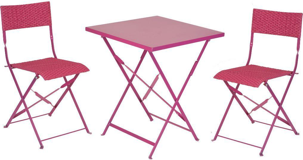 Table jardin m tal for Salon de jardin pliable