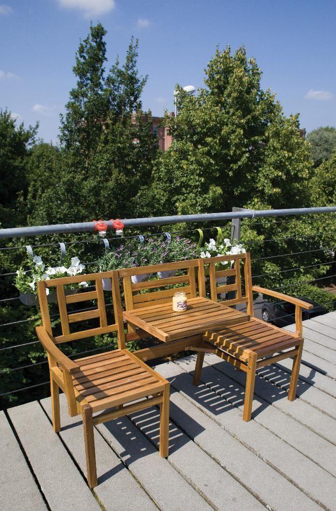 banc de jardin en bois convertible en table 2 chaises. Black Bedroom Furniture Sets. Home Design Ideas