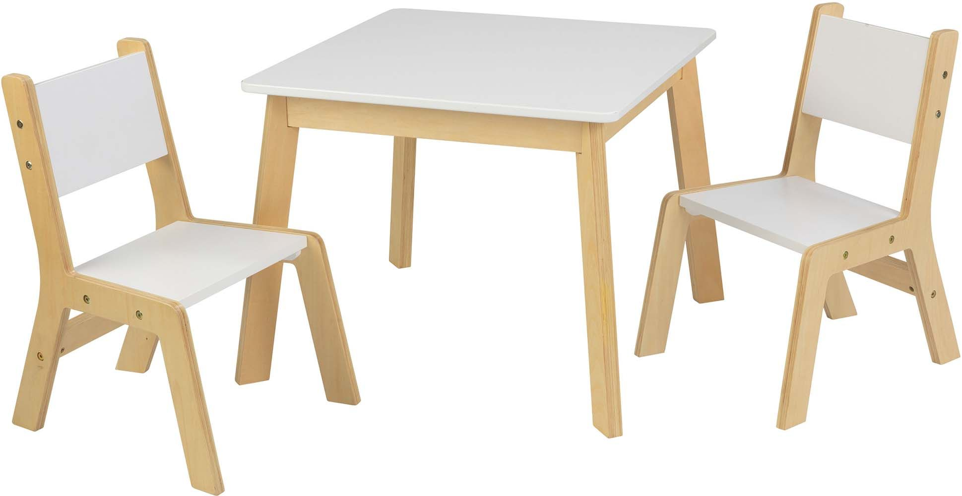 image_Ensemble table moderne + 2 chaises