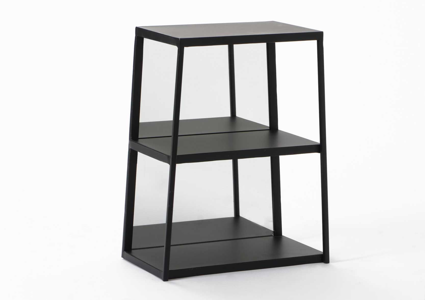 etagere 3 niveaux en m tal. Black Bedroom Furniture Sets. Home Design Ideas