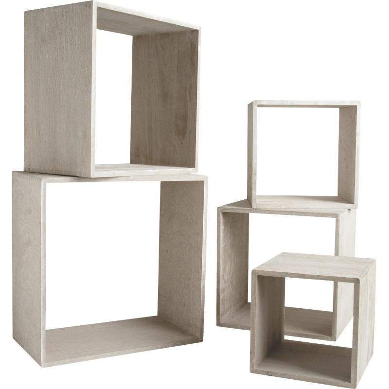 etagere cube bois gris. Black Bedroom Furniture Sets. Home Design Ideas