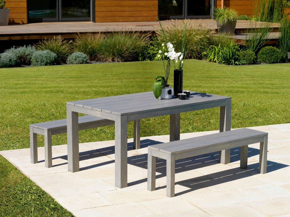 Table et banc de jardin design des id es for Table et banc de jardin