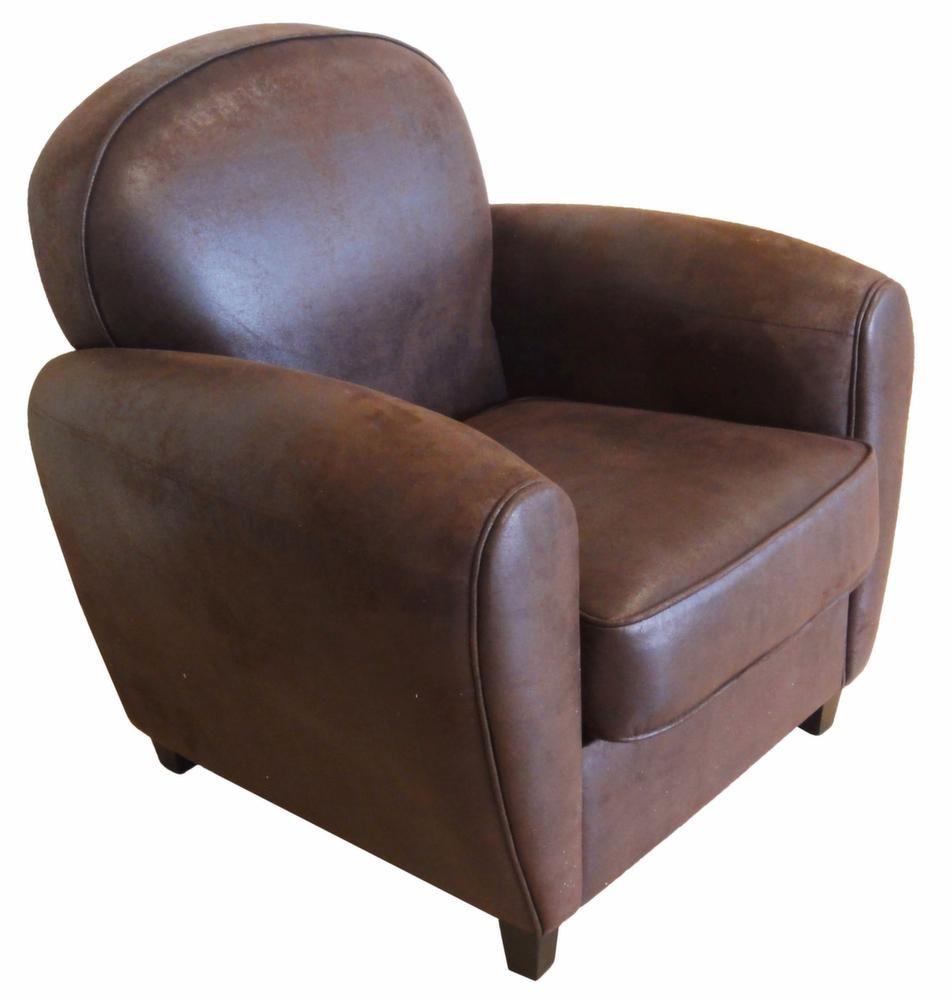 fauteuil club vintage grand classique cuir vieilli. Black Bedroom Furniture Sets. Home Design Ideas