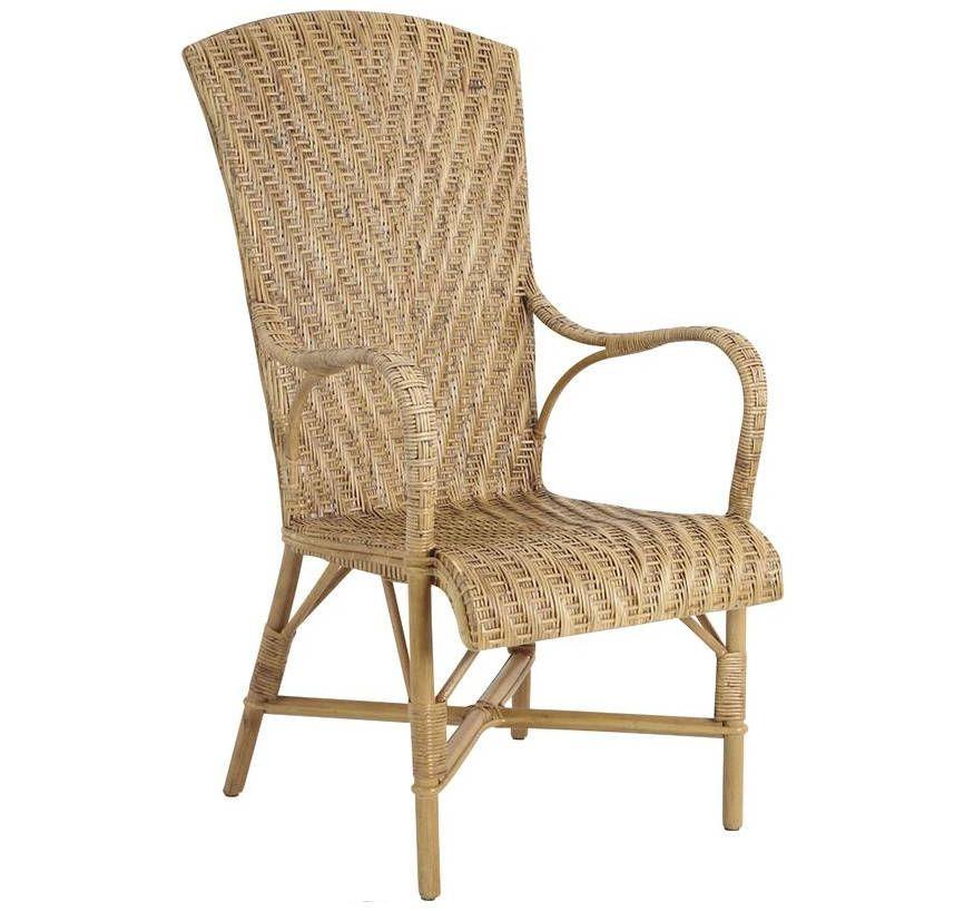 Fauteuil en manau et lame de rotin antique - Peindre un fauteuil en rotin ...