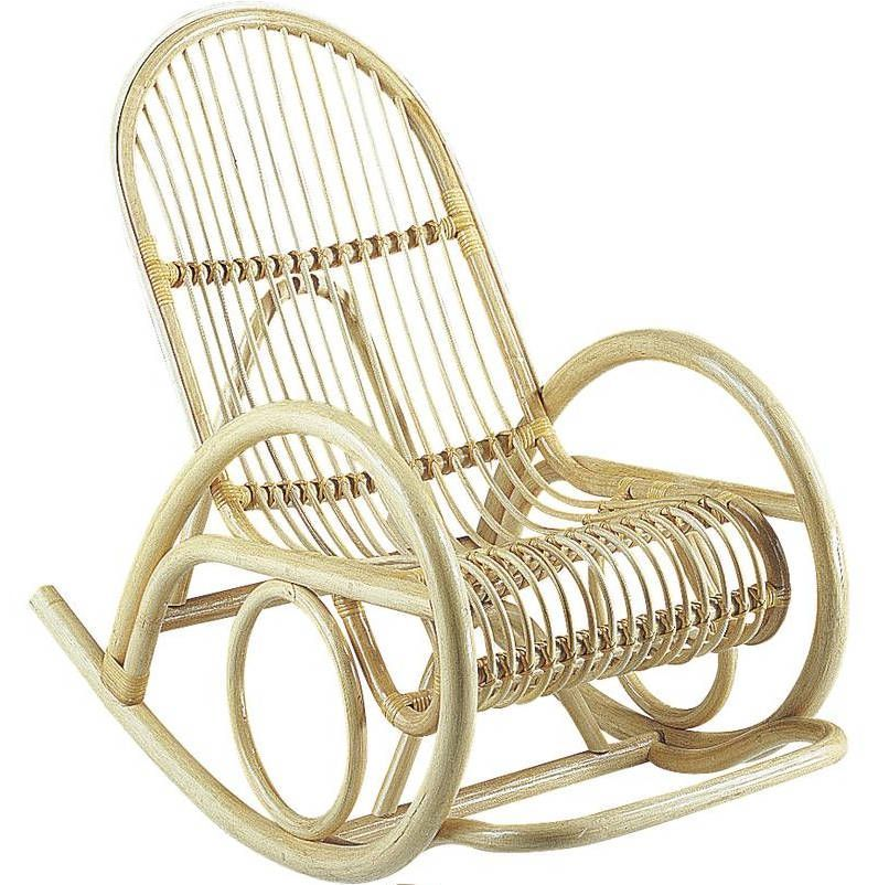 fauteuil rocking chair en manau corc verni. Black Bedroom Furniture Sets. Home Design Ideas
