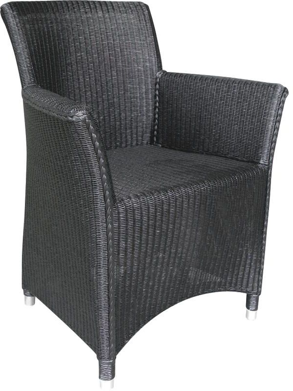 fauteuil sapporo noir en loom et rotin. Black Bedroom Furniture Sets. Home Design Ideas