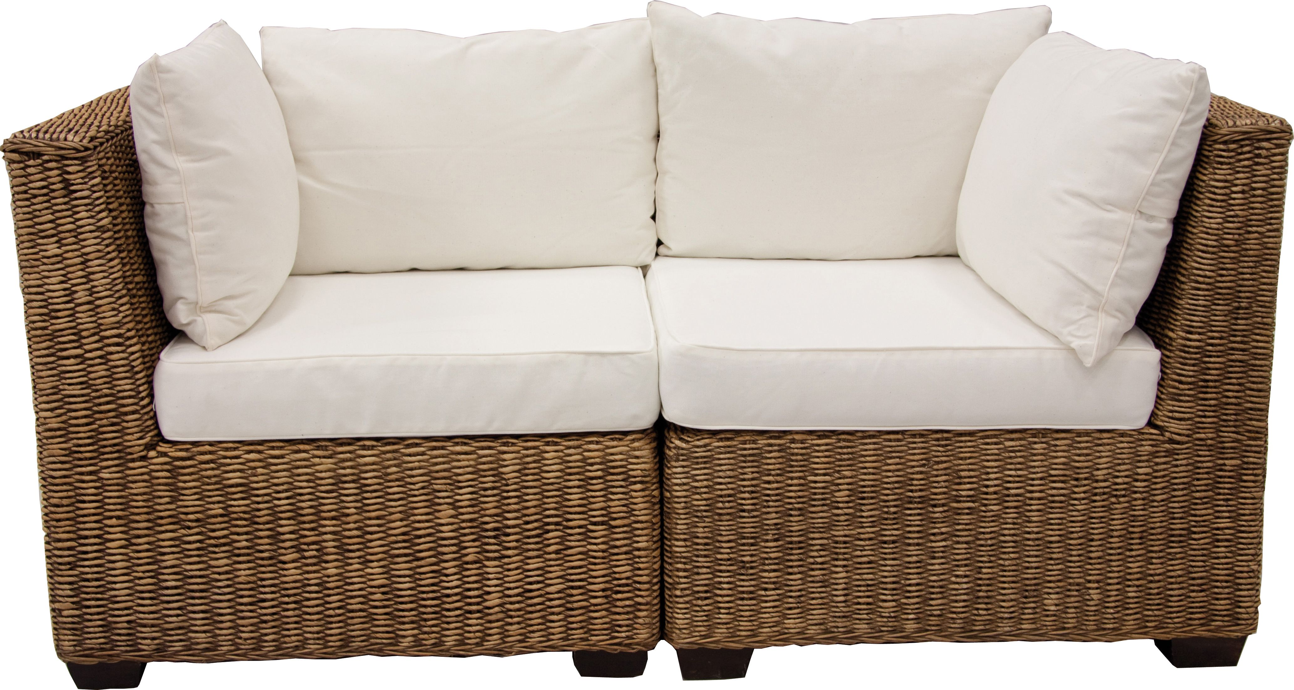 fauteuil d 39 angle en jacinthe. Black Bedroom Furniture Sets. Home Design Ideas