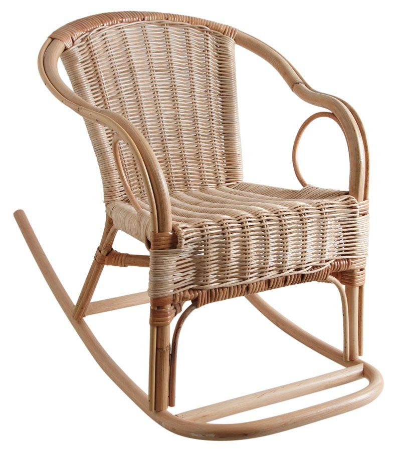 fauteuil bascule en rotin pour enfant. Black Bedroom Furniture Sets. Home Design Ideas