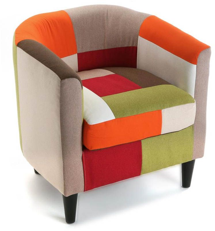 fauteuil club patchwork vitamin. Black Bedroom Furniture Sets. Home Design Ideas