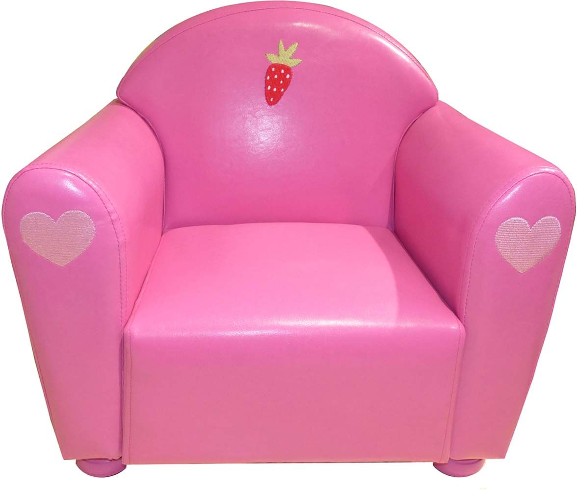 fauteuil club pour enfant fraise. Black Bedroom Furniture Sets. Home Design Ideas