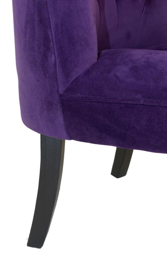 fauteuil crapaud alexia aubergine. Black Bedroom Furniture Sets. Home Design Ideas