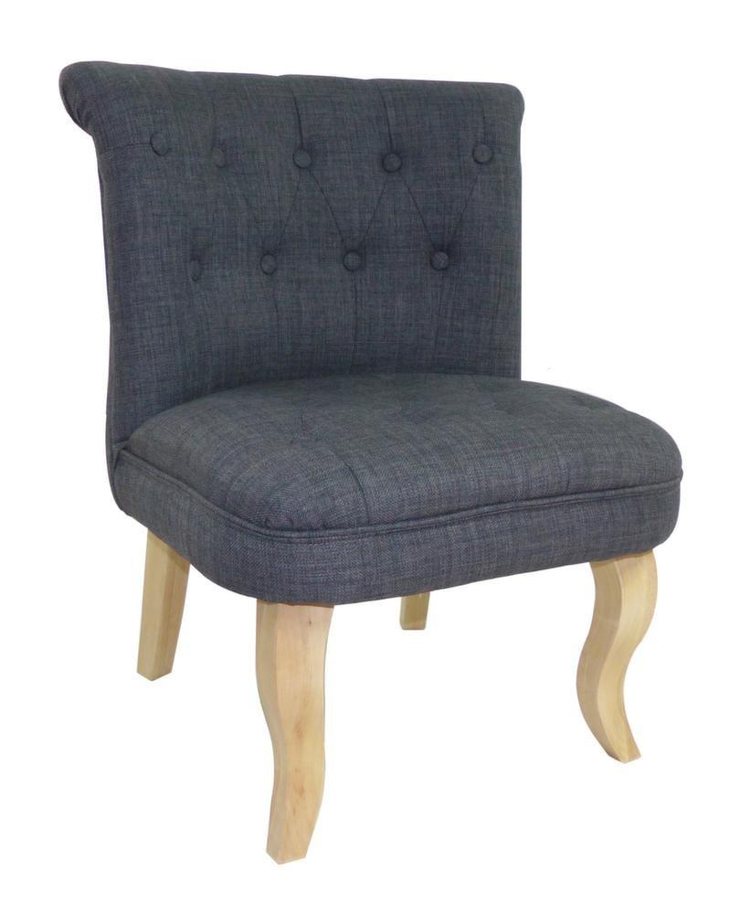 fauteuil crapaud alexia gris. Black Bedroom Furniture Sets. Home Design Ideas