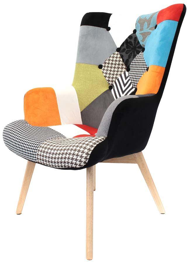 Fauteuil Design Coloré Patchwork - Fauteuil design patchwork