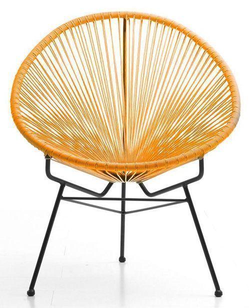 Fauteuil ext rieur spring orange en r sine et acier - Fauteuil exterieur resine ...