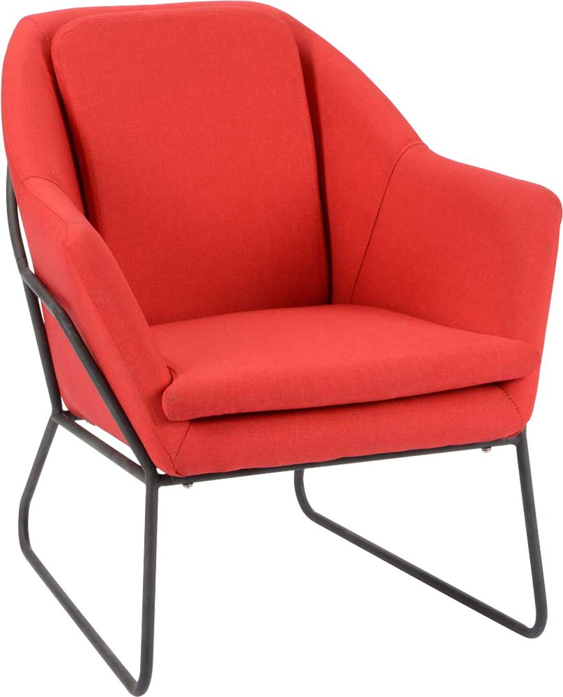 image_Fauteuil filaire rouge