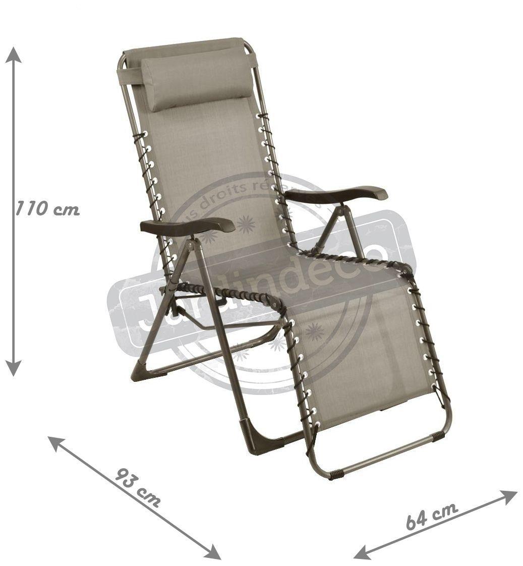 fauteuil de jardin relax n o taupe. Black Bedroom Furniture Sets. Home Design Ideas