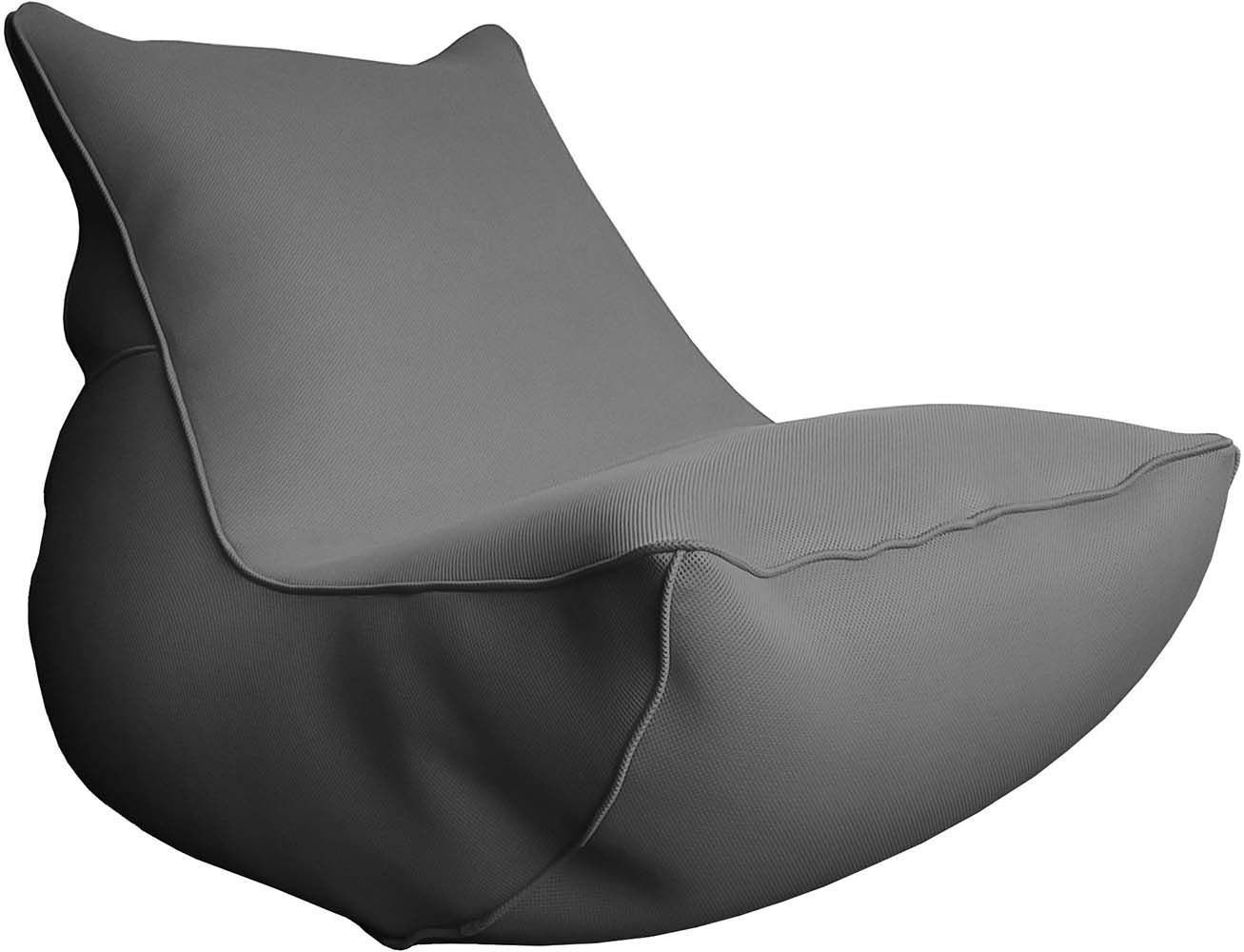 Fauteuil lounge big bag de piscine anthracite