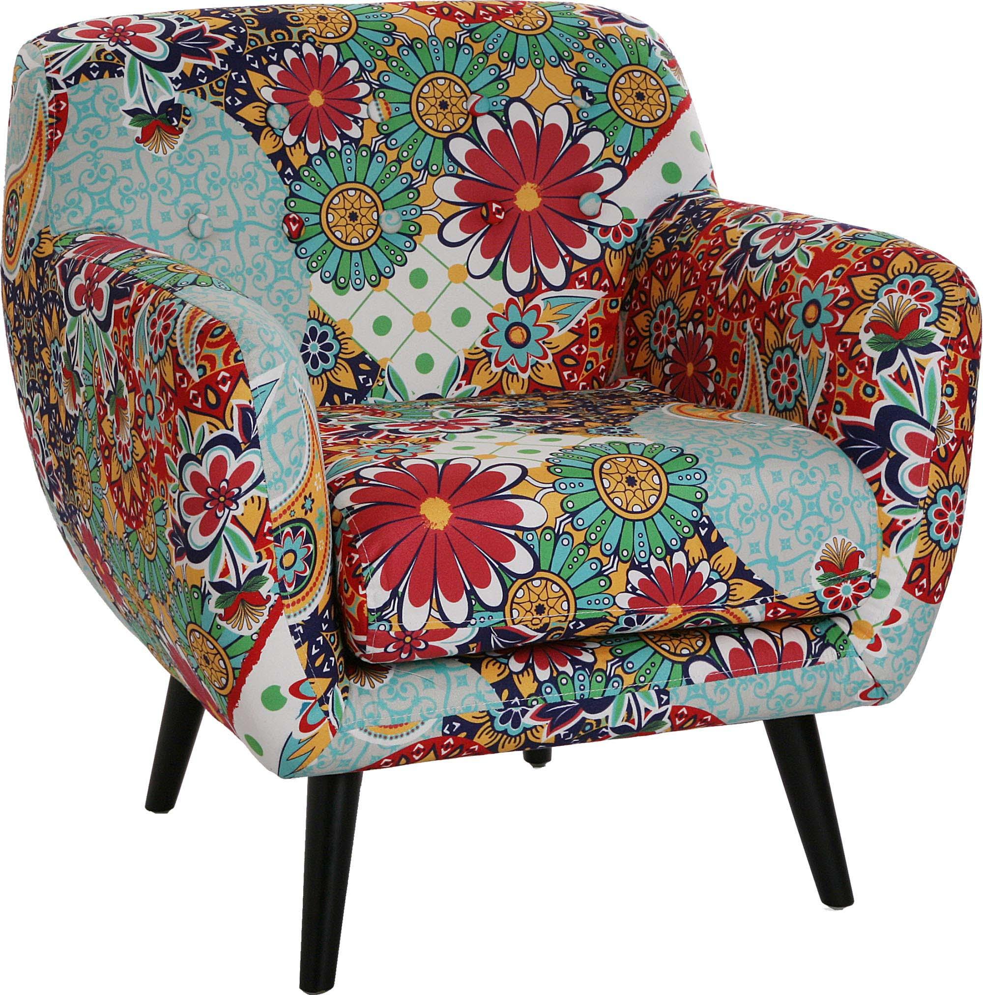 Fauteuil lounge fleuri Giardino