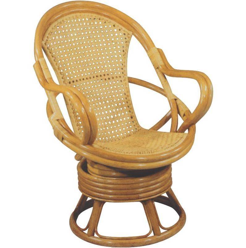 Fauteuil pivotant miel en rotin et cannage - Coussin pour fauteuil en rotin ...
