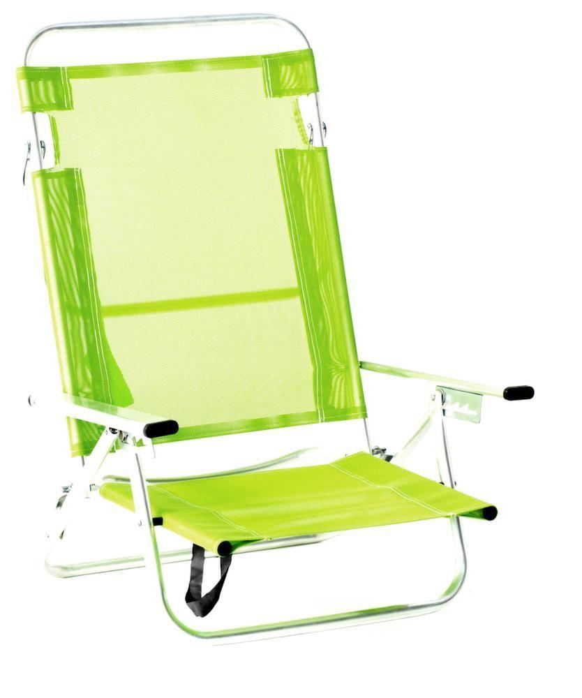 fauteuil de plage en aluminium maribel pistache. Black Bedroom Furniture Sets. Home Design Ideas