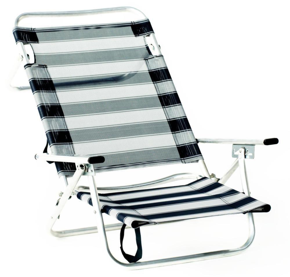 fauteuil de plage en aluminium maribel ray bleu. Black Bedroom Furniture Sets. Home Design Ideas