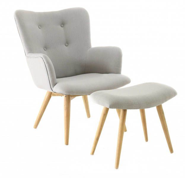 Fauteuil avec repose pieds Stockholm by Inwood