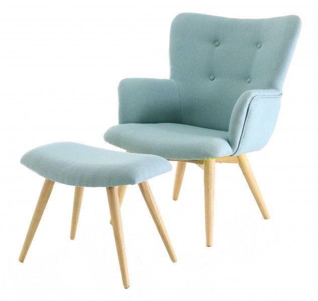 fauteuil avec repose pieds stockholm. Black Bedroom Furniture Sets. Home Design Ideas