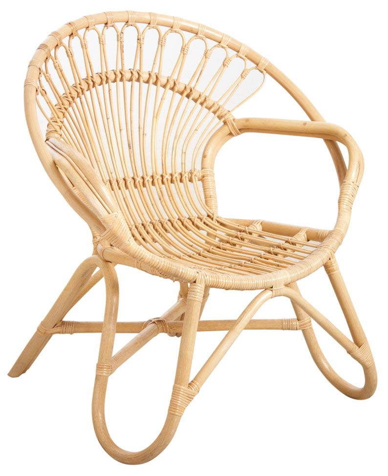 Fauteuil en rotin naturel